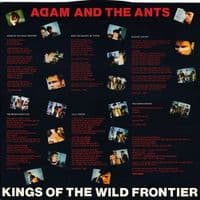 ADAM AND THE ANTS Kings Of The Wild Frontier Vinyl Record LP CBS 1980